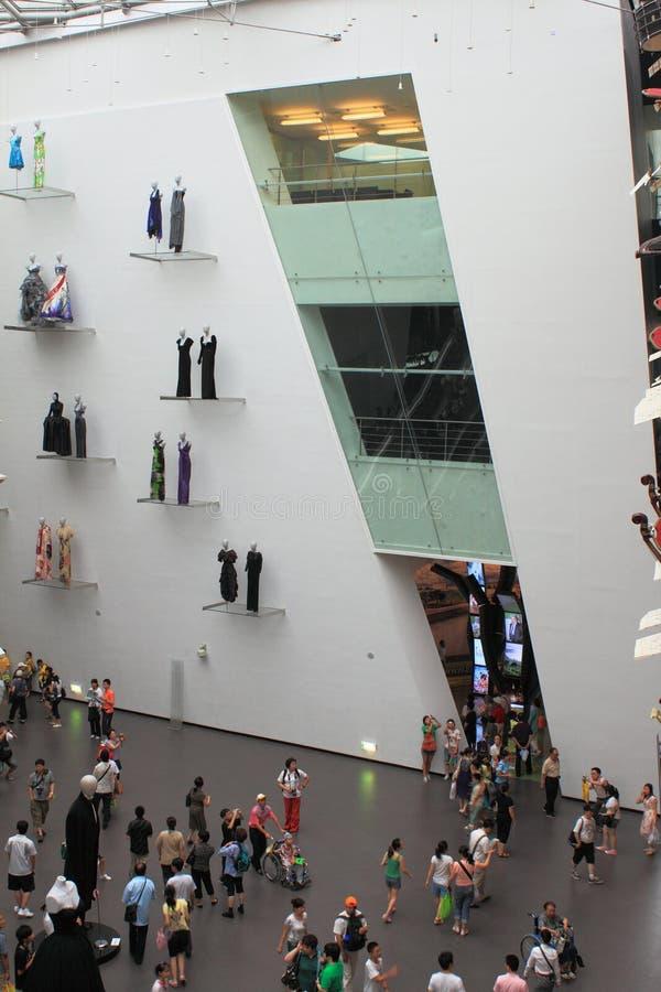 Expo du monde de Changhaï de pavillon de l'Italie images stock