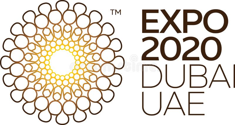 Expo 2020 EAU illustration libre de droits