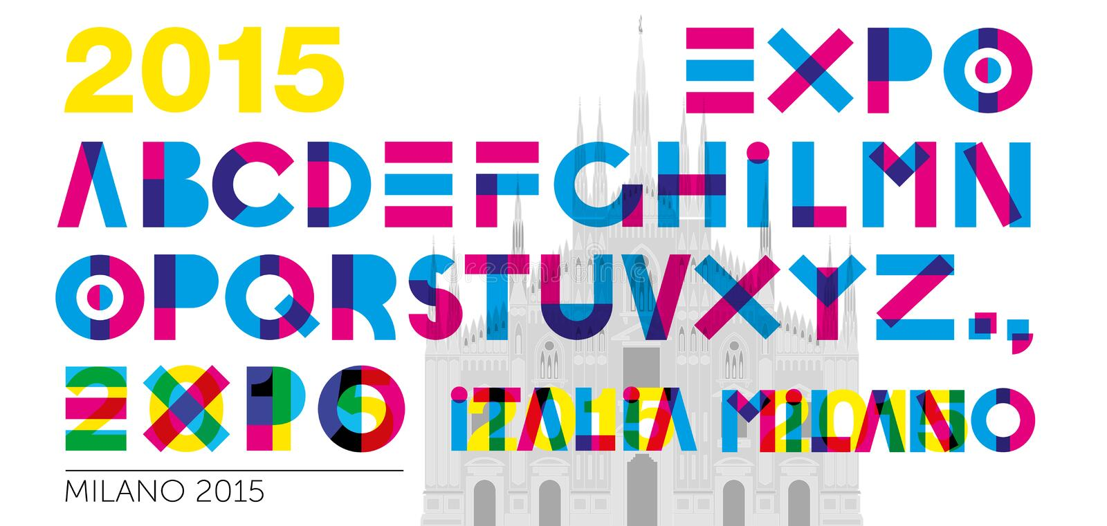 Expo 2015 font. Expo 2015 graphic font, file