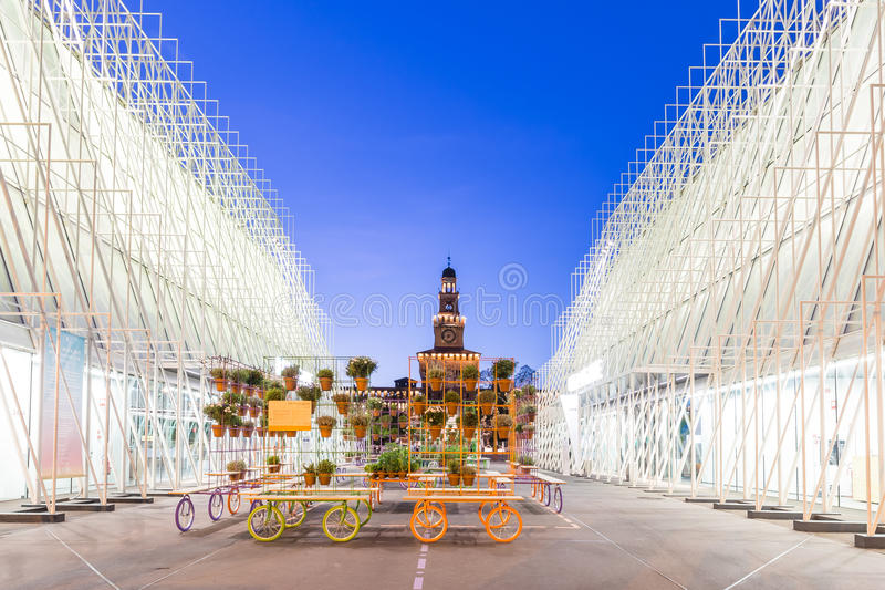 Expo Gate 2015 in Milan, Italy. stock photography