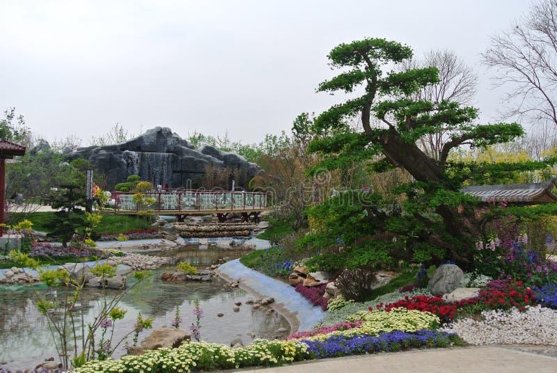 EXPO 2019, giardino classico cinese, architetture cinesi, cultura cinese, esposizione orticola internazionale 2019 di Pechino immagini stock