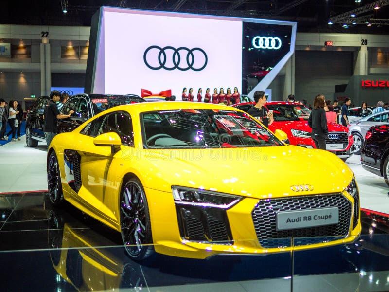 Expo internacional del motor de Tailandia Bangkok 2018 - 6 DE ABRIL DE 2018: Presentación del nuevo coche del audi en el 39.o int foto de archivo libre de regalías