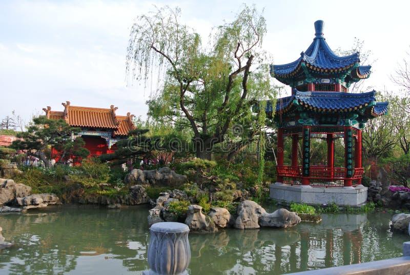 EXPO 2019, jardin classique chinois, architectures chinoises, culture chinoise, exposition 2019 horticole internationale de P?kin photos stock