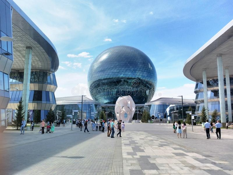 Expo Kazachstan hoofdastana royalty-vrije stock fotografie