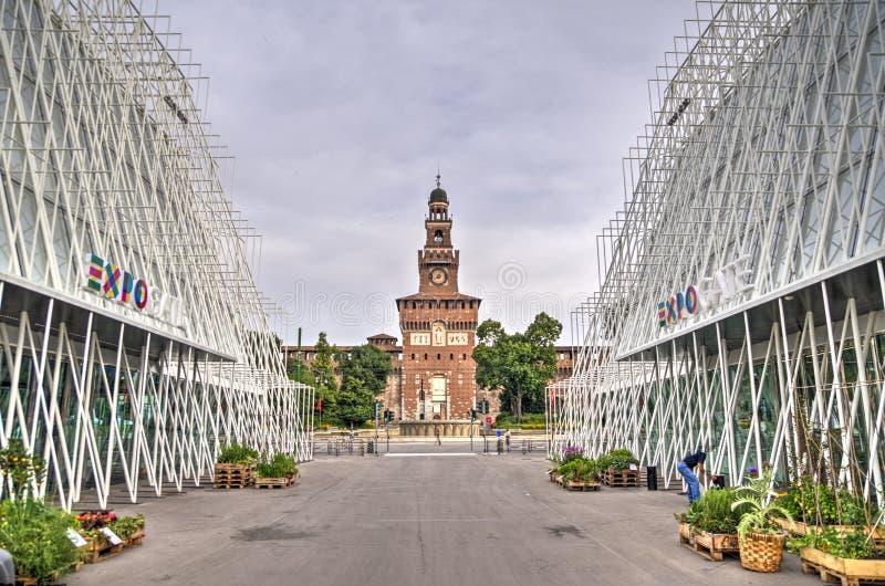 EXPO 2015, Mediolan, Włochy zdjęcia stock