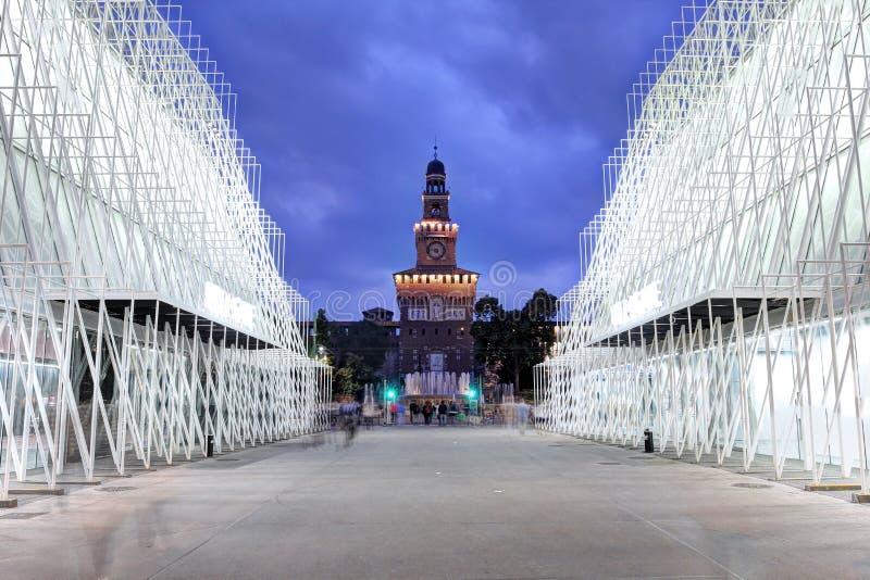 Expo2015, Mediolan, Włochy obraz stock