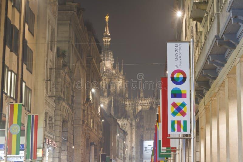 Expo Milaan 2015 stock foto's