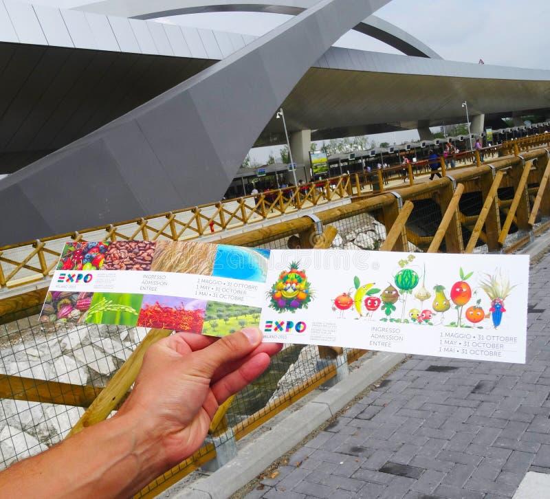 Expo 2015 - Milan royaltyfria bilder