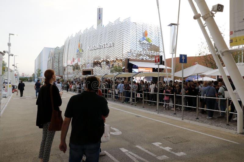Expo 2105 milan arkivfoton