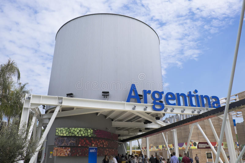 Expo Milan Argentina Pavilion 2015 immagine stock
