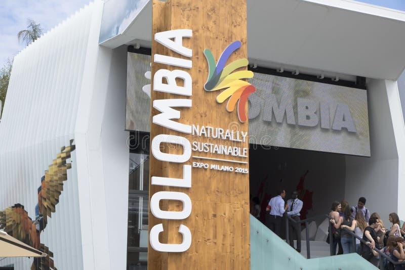 Expo Milan Colombia Pavilion 2015 fotografia stock