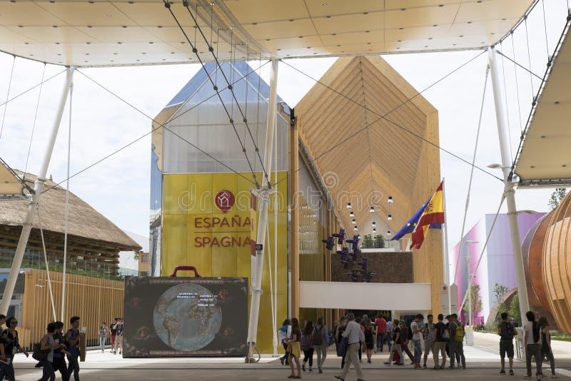 Expo Milan Espana Pavilion 2015 fotografie stock libere da diritti