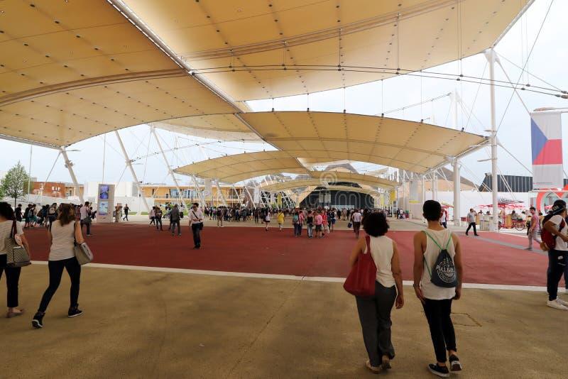 Expo2015 milan, milano royaltyfri bild