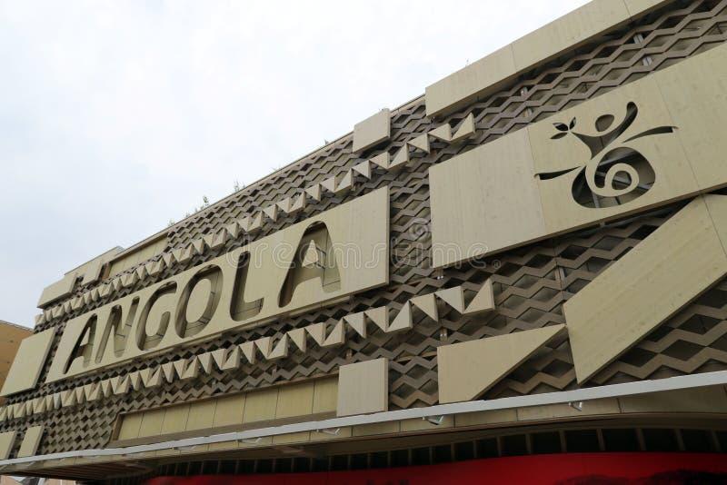 Expo2015 milan, milano Angola paviljong arkivfoton