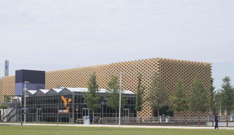 Expo Milan Nederland Pavilion 2015 fotografia stock