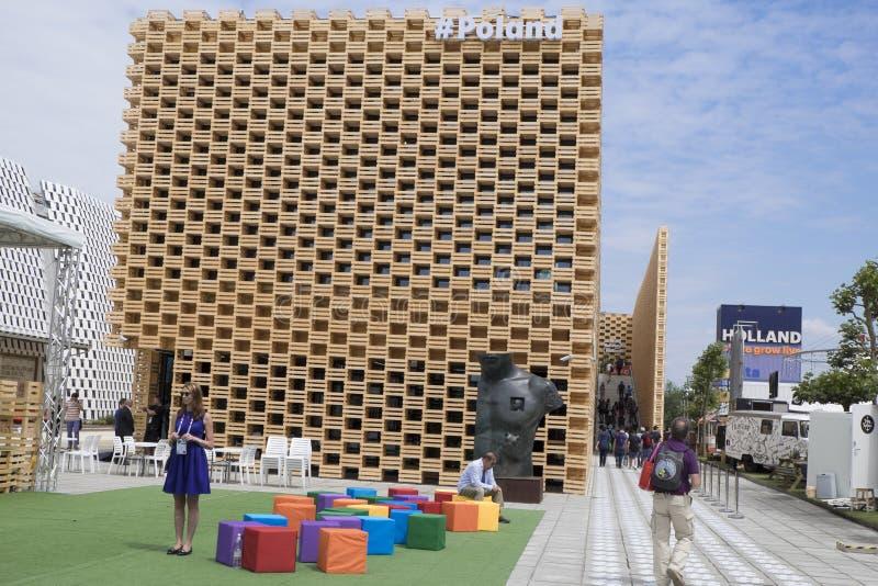 Expo Milan Poland Pavilion 2015 immagini stock