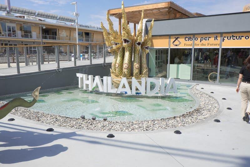 Expo Milan Thailandia Pavilion 2015 immagine stock