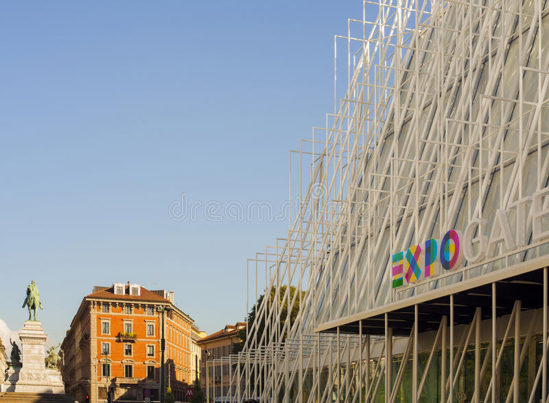 Expo 2015 in Milan. View of Expo gate 2015 in Milan royalty free stock photo