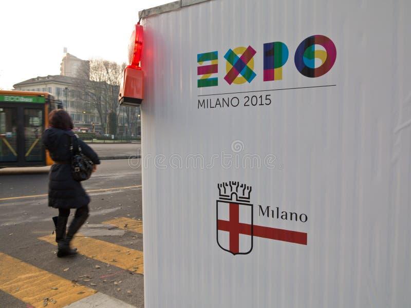 Expo Milano 2015 arkivbild