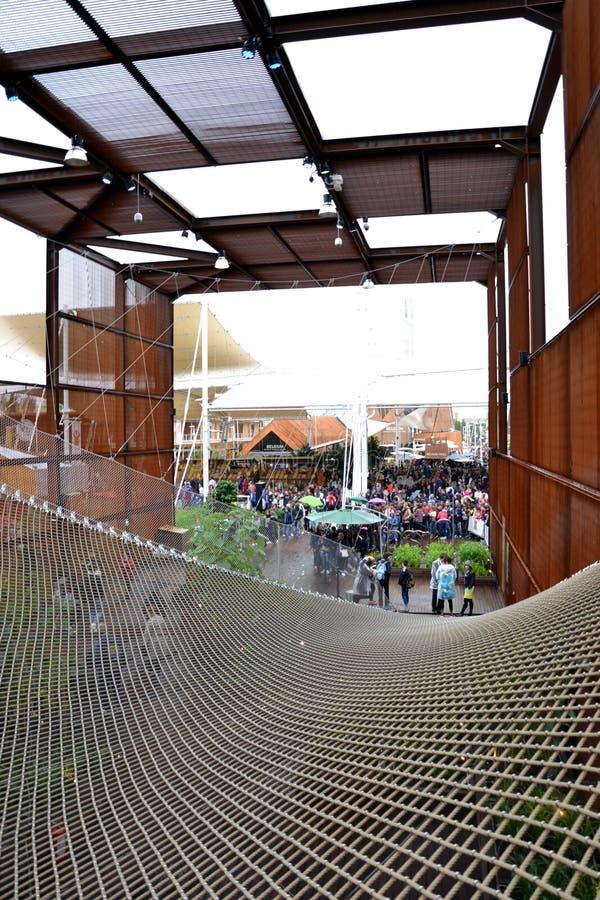 EXPO Milano del padiglione del Brasile Italia 2015 fotografia stock libera da diritti