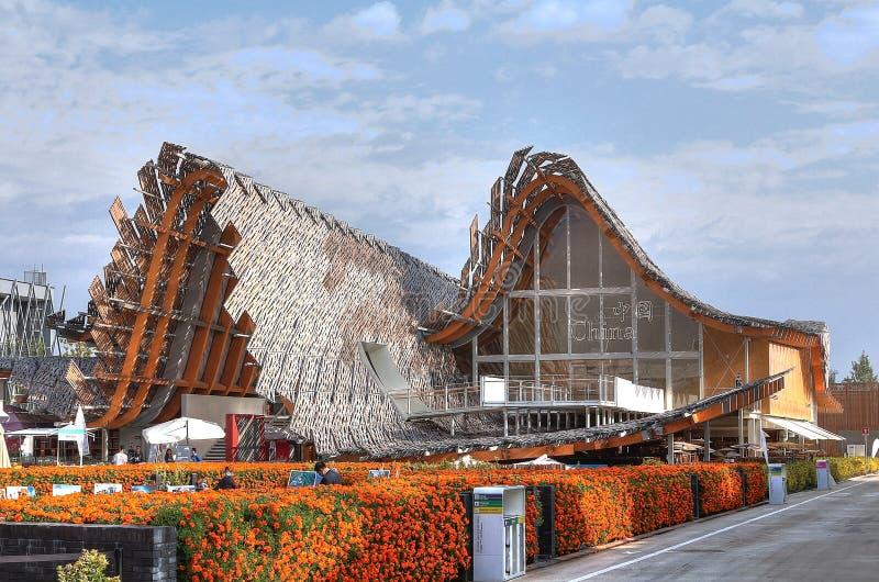 Expo 2015, Milano, Italia, settembre 2015, padiglione cinese fotografie stock