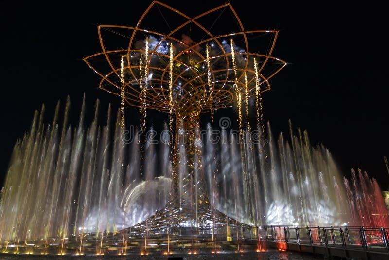 Expo 2015. Milano italy tree of life royalty free stock image