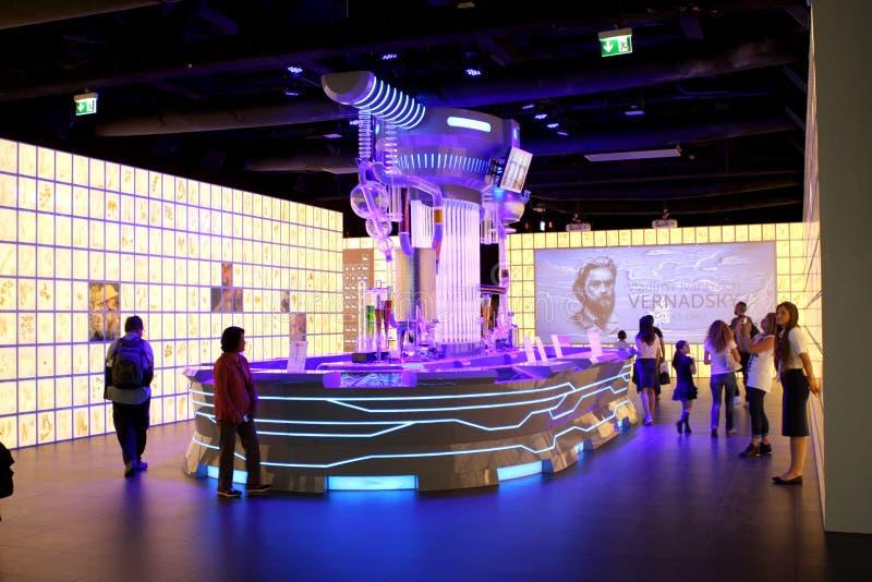 EXPO MILANO 2015 - RYSSLAND royaltyfri foto