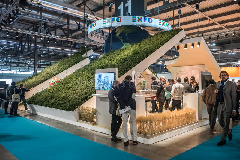 Expo Milan Stands : Expo milano stand at bit in milan italy editorial