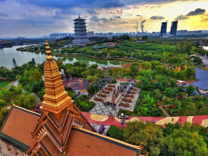 EXPO parka krajobraz w Xi'an porcelanie zdjęcie royalty free