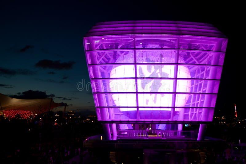 Expo pavillon de Changhaï 2010 - de Taiwan - pourpre images stock