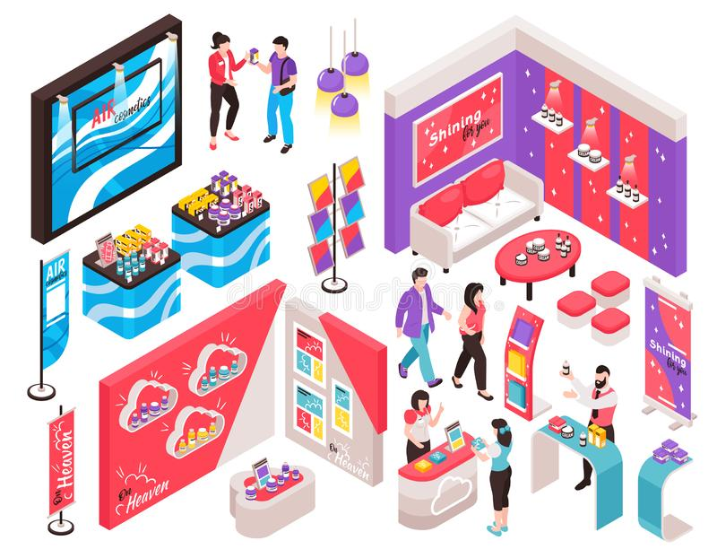 Expo Stand Constructor Set vector illustration