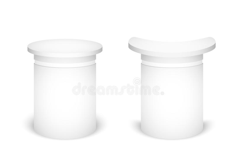 Expo stand on a white background. Mock Up Template For Your Design. Vector illustration. stock illustration