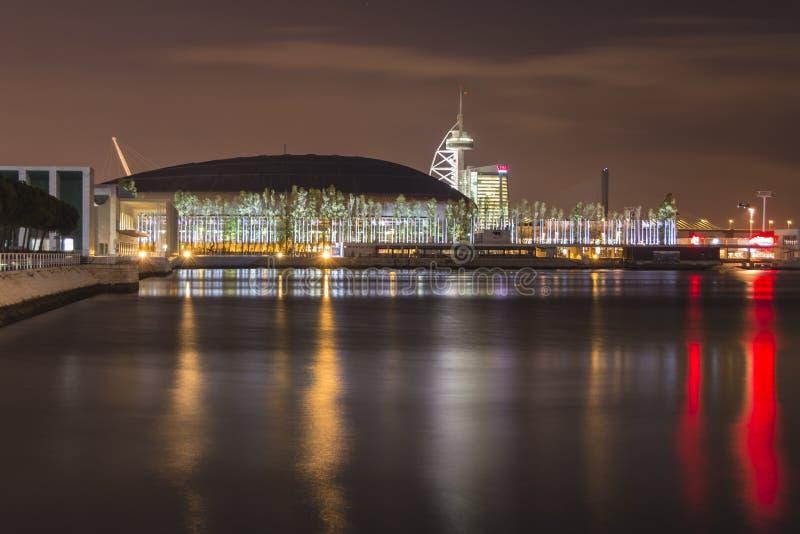 Expo vid natt arkivfoton