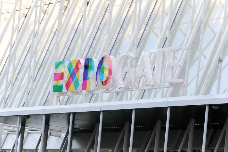 Expogate milan, milano expo2015 fotografering för bildbyråer