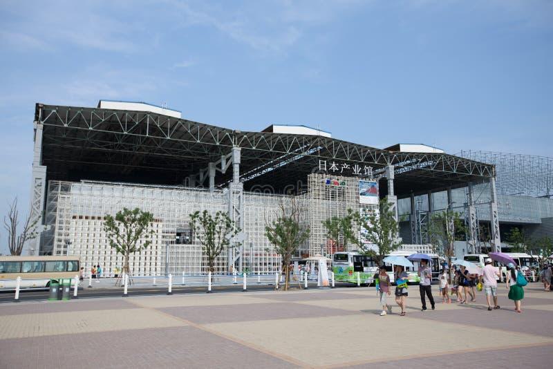 expoindustrijapan paviljong 2010 shanghai royaltyfri bild