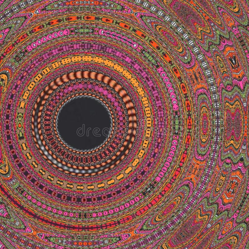Expolosion colorido del fondo del modelo del caleidoscopio de la mandala imagenes de archivo