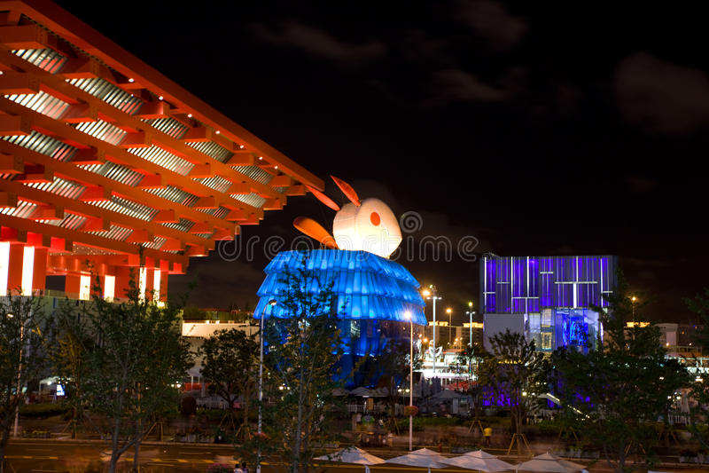 expomacau paviljong 2010 shanghai royaltyfri foto