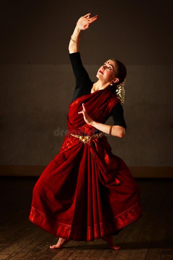 Exponent Bharat Natyam des Tanzes stockfotos