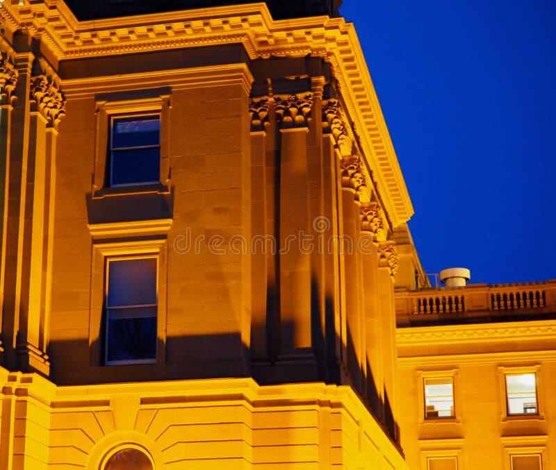 Exponerad lagstiftnings- byggnad Edmonton, Alberta royaltyfri bild