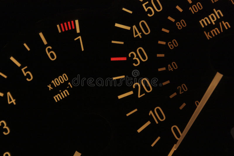 exponerad speedometer fotografering för bildbyråer