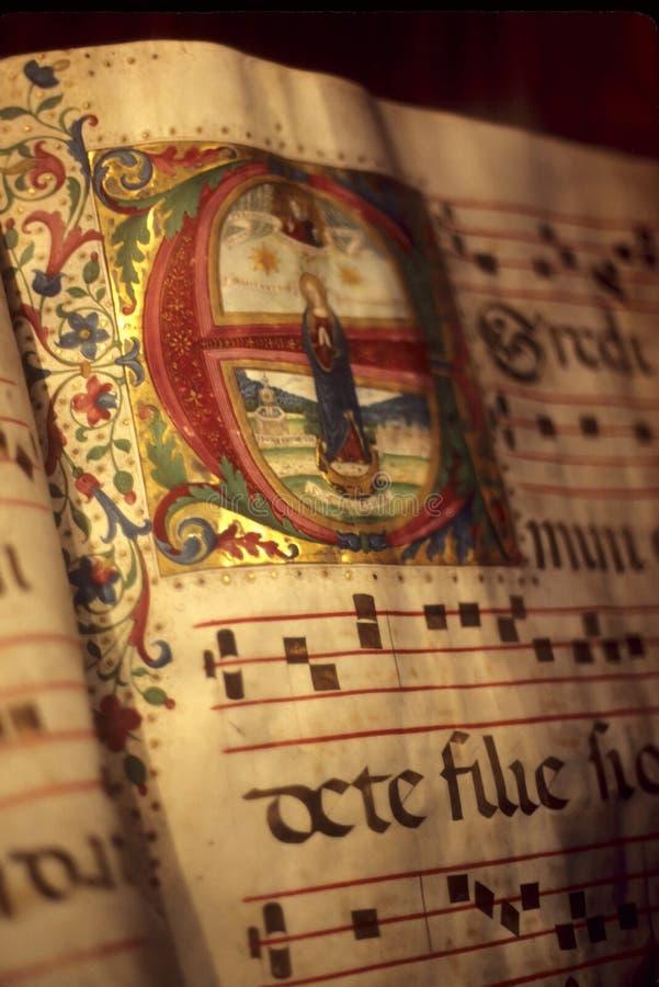 exponerat manuskript arkivbild