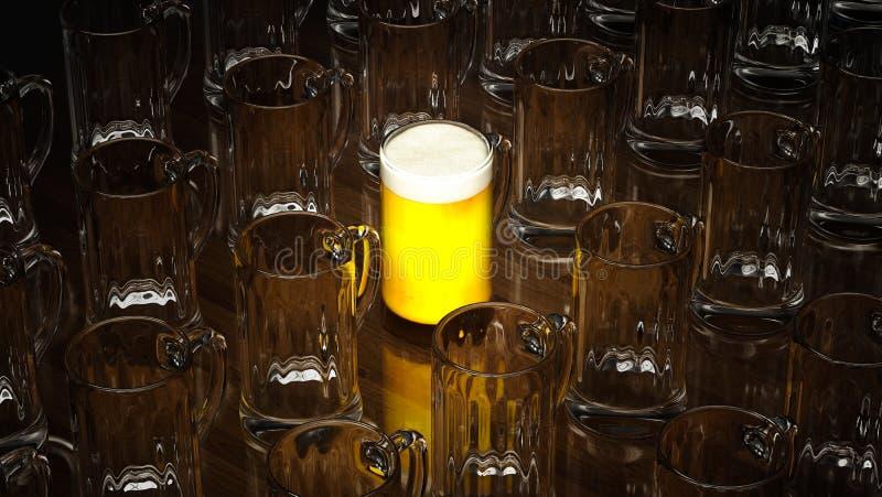 Exponeringsglas av öl vektor illustrationer