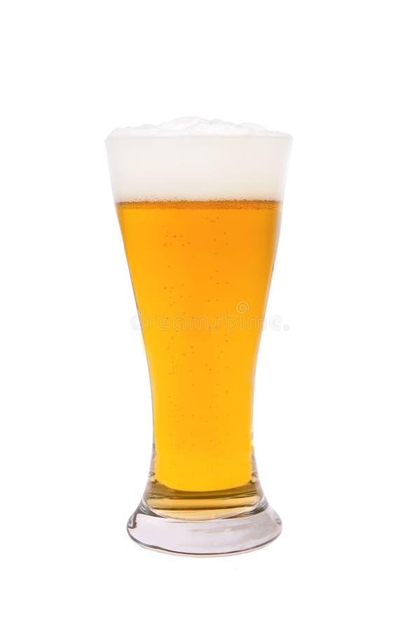 Exponeringsglas av öl som isoleras på vit fotografering för bildbyråer