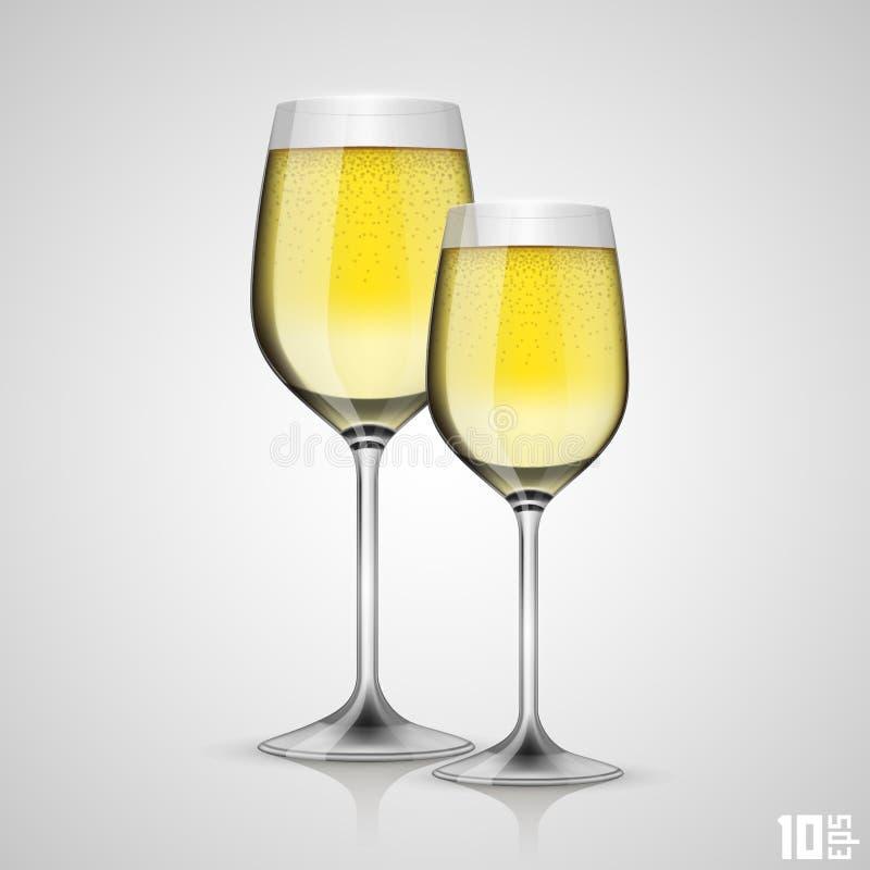 Exponeringsglas av champagne vektor illustrationer