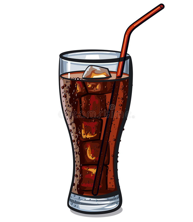 Exponeringsglas av cola vektor illustrationer