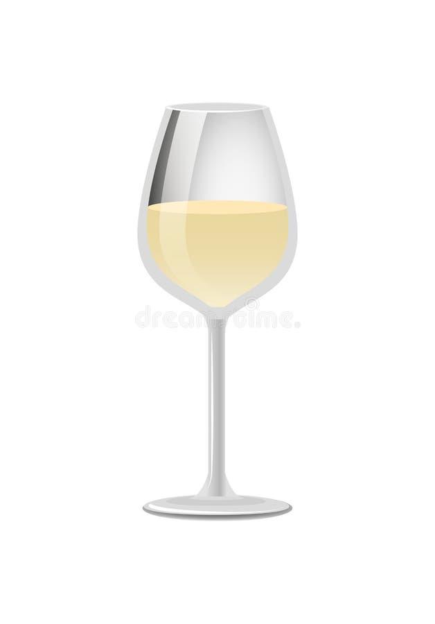 Exponeringsglas av drinken för alkohol för vitt vin för elit den klassiska royaltyfri illustrationer
