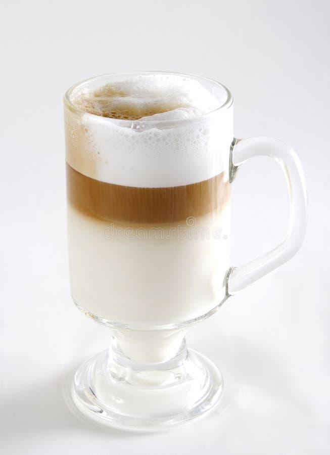 Exponeringsglas av kaffecoctailen royaltyfri fotografi