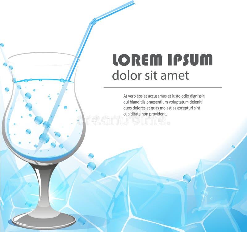 Exponeringsglas av kristallklart vatten royaltyfri illustrationer