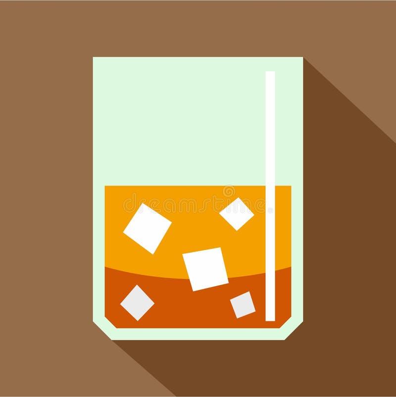 Exponeringsglas av kväv whisky- och issymbolen, lägenhetstil stock illustrationer