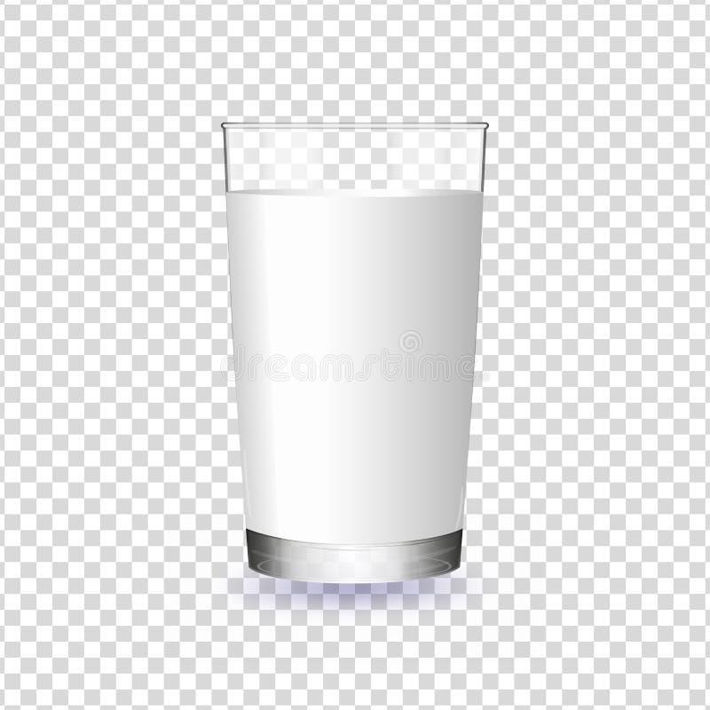 Exponeringsglas av mjölkar isolerat på en genomskinlig bakgrund vektor illustrationer